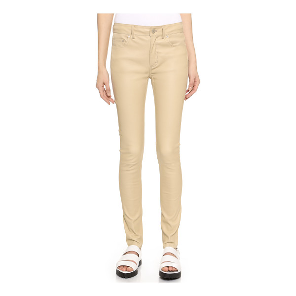 ACNE STUDIOS Close leather pants - Slim leather Acne Studios trousers with classic details. 5...
