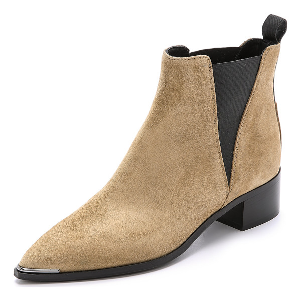 ACNE STUDIOS Jensen suede booties - A slim, pointed toe gives these suede Acne Studios chelsea...
