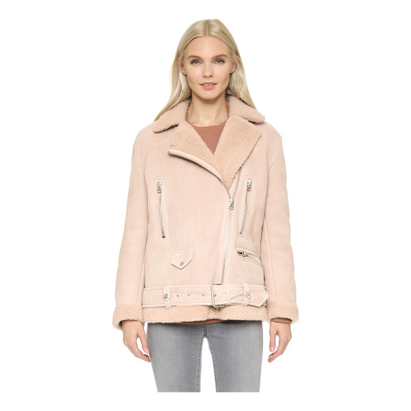 ACNE STUDIOS More shearling jacket - A luxurious shearling Acne Studios jacket in a moto...
