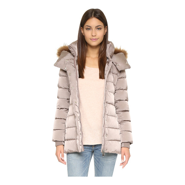 ADD DOWN Down jacket with fur hood - This extra warm Add Down puffer coat has optional fur trim...
