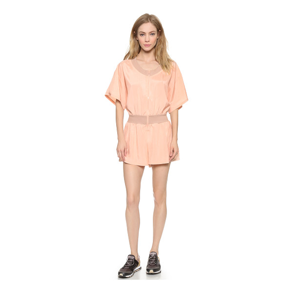 ADIDAS BY STELLA MCCARTNEY All in one romper - Ribbed trim adds subtle contrast to this lightweight adidas...