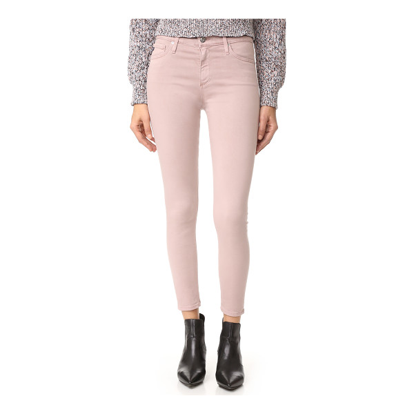 AG ADRIANO GOLDSCHMIED the farrah skinny crop jeans - Sleek AG skinny jeans in soft, sateen-like denim. High...