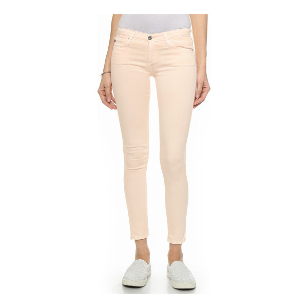 AG ADRIANO GOLDSCHMIED Legging skinny ankle jeans - Mid rise AG jeans with a super skinny fit and slight...