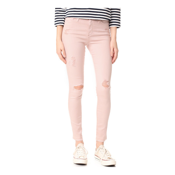 AG ADRIANO GOLDSCHMIED the farrah skinny ankle jeans - Shredded holes and raw cuffs add a worn feel to these...