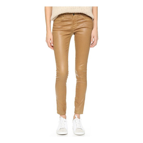 AG ADRIANO GOLDSCHMIED The leatherette legging ankle jeans - AG skinny jeans with a slick, leather like coating. 5...