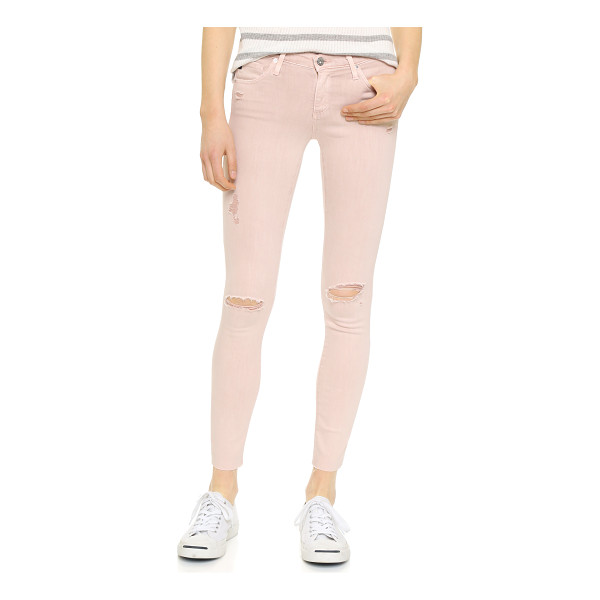 AG ADRIANO GOLDSCHMIED the legging ankle jeans - Soft super stretch denim lends a curve hugging fit to these...