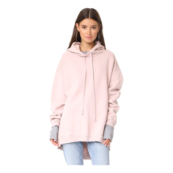 AGOLDE high low hoodie - An oversized AGOLDE hoodie with a high-low hem. Ribbed...