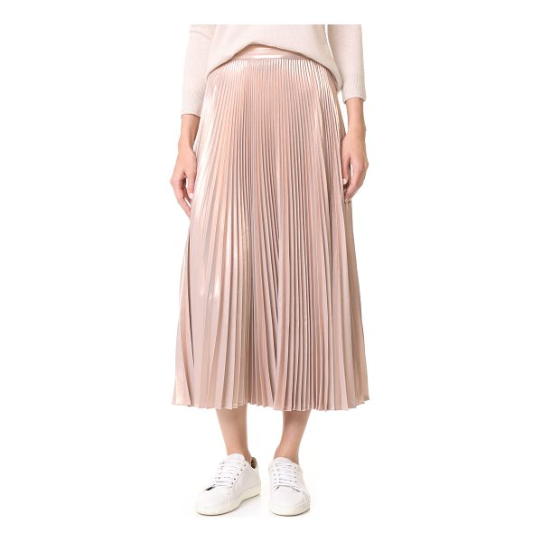 A.L.C. bobby skirt - This polished A.L.C. skirt has a metallic finish and...