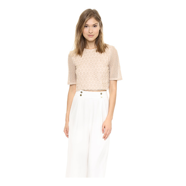A.L.C. Fremont top - Crocheted circles compose this delicate A.L.C. top, and a...