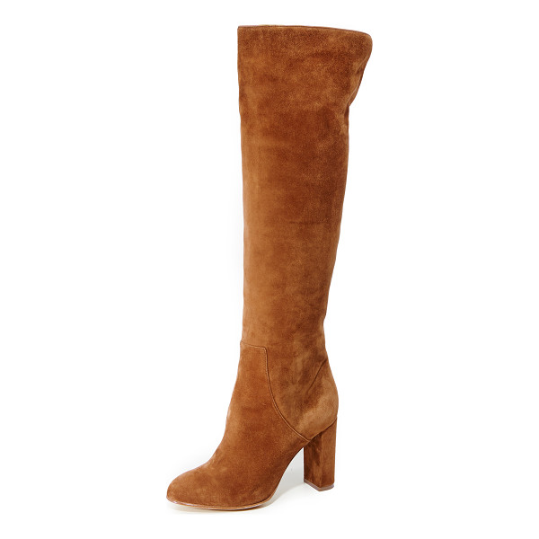 ALEXA WAGNER Theresa Suede Boots - Velvety suede Alexa Wagner boots with a chic over the knee...