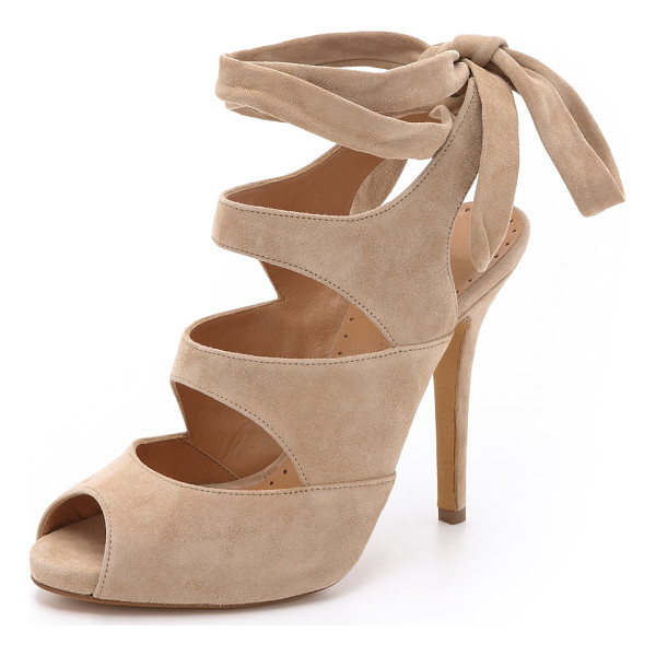 ALEXA WAGNER Rafaella suede sandals - Wraparound ankle ties complement the feminine look of these