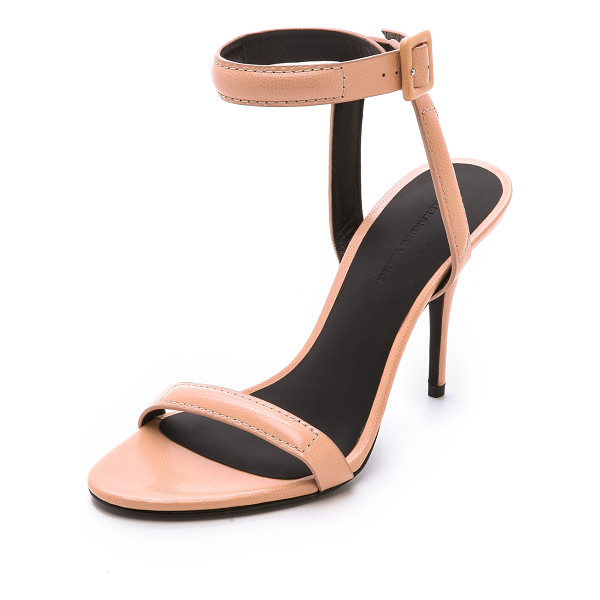 ALEXANDER WANG Antonia ankle strap sandals - Finely pebbled leather composes these slim Alexander Wang...