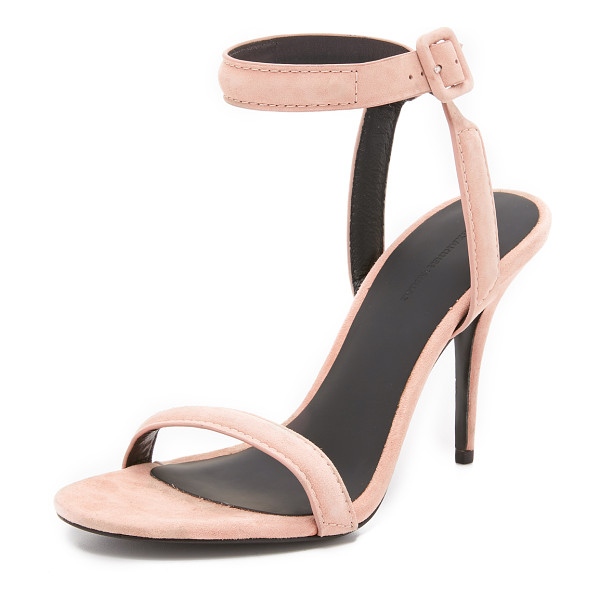 ALEXANDER WANG Antonia sandals - Velvety suede and slim, padded straps give modern Alexander...