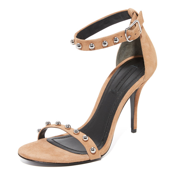 ALEXANDER WANG antonia studded sandals - Rounded studs accent the slim straps on these velvety suede...