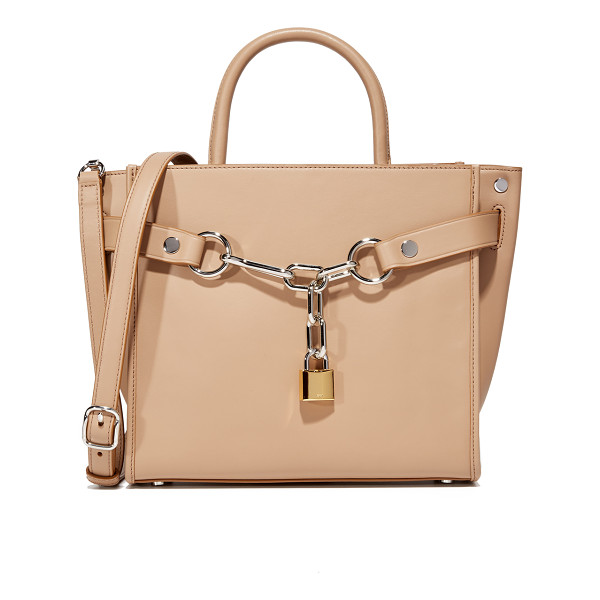 ALEXANDER WANG Attica Chain Satchel - Sleek leather composes this structured Alexander Wang...