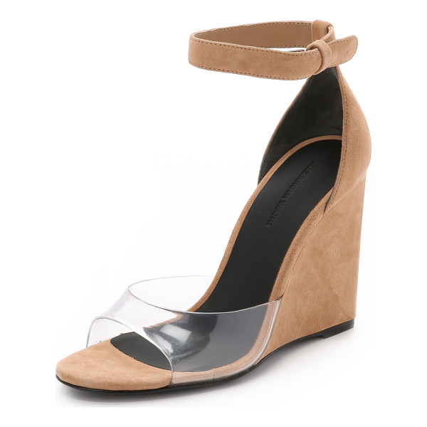 ALEXANDER WANG Erika suede wedge sandals - Rich suede and transparent rubber make an unexpected...