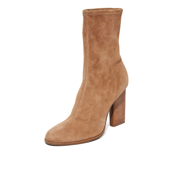 ALEXANDER WANG Alexander Wang Gia Boots - Luxe stretch suede Alexander Wang booties detailed with...