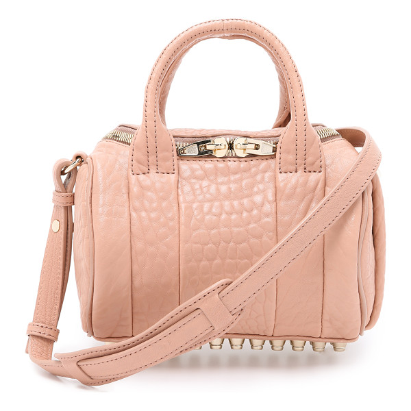 ALEXANDER WANG Mini rockie bag - Textured leather composes this scaled down Alexander Wang