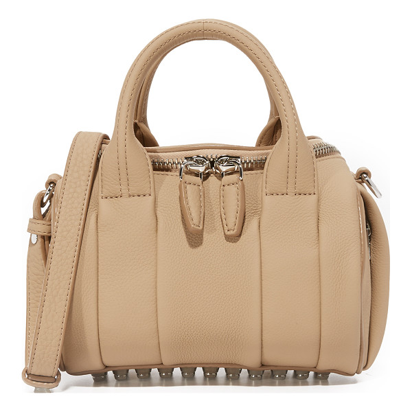 ALEXANDER WANG mini rockie duffel bag - Pebbled leather lends luxe texture to this scaled-down...