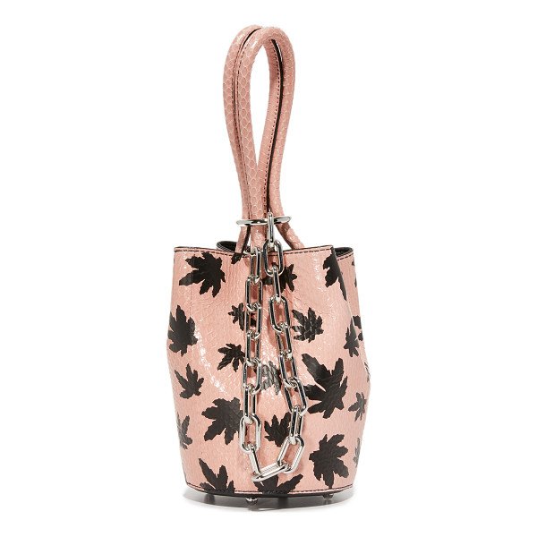 ALEXANDER WANG Alexander Wang Mini Roxy Bucket Bag - Patterned, snakeskin composes this scaled down Alexander