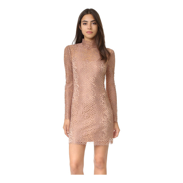 ALEXANDER WANG mock neck lace mini dress - This Victorian inspired Alexander Wang mini dress is...