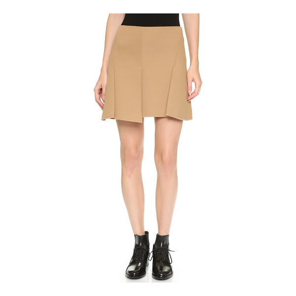 ALEXANDER WANG Paneled miniskirt - Soft honeycomb neoprene gives this pleated Alexander Wang...