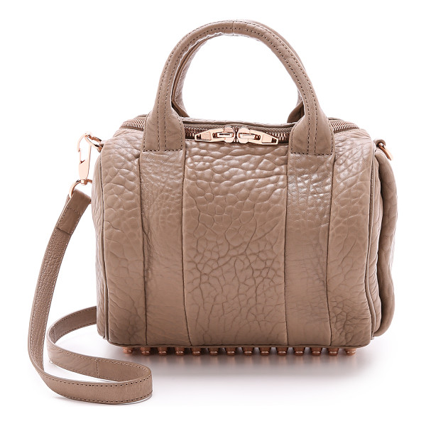 ALEXANDER WANG rockie duffel bag - Luxe, wrinkled leather and rose gold-tone hardware bring a