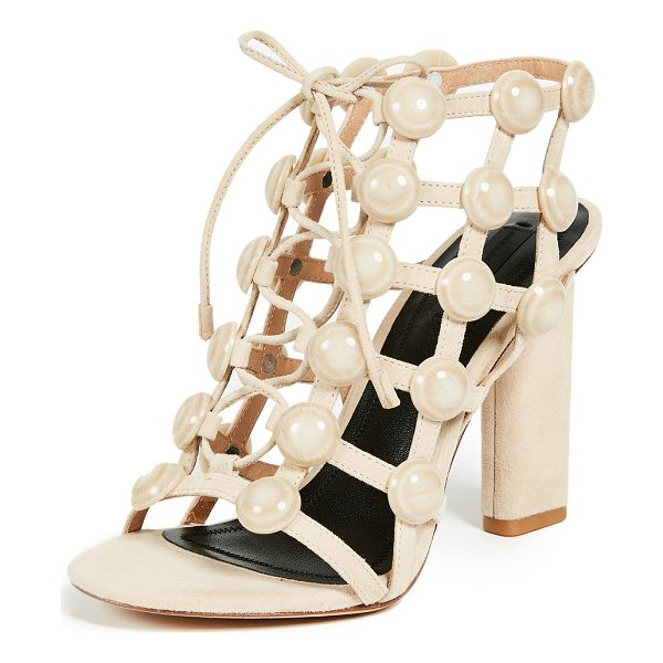 ALEXANDER WANG rubie cage sandals - Leather: Calfskin Strappy silhouette Chunky heel Lace-up at...