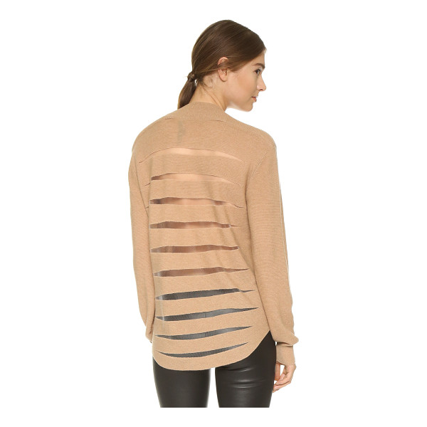 ALEXANDER WANG Sheer back sweater - An Alexander Wang sweater in a soft blend of natural...