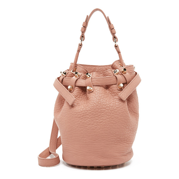 ALEXANDER WANG Small diego bucket bag - Tactile leather composes this signature Alexander Wang