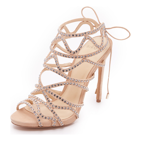 ALEXANDRE BIRMAN Glam sandals - Rhinestones detail the wavy straps on these glamorous, peep...