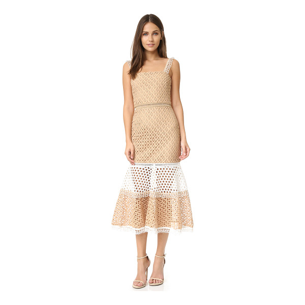 ALEXIS Alexis Erin Dress - Tiers of texture rich lace compose this mid length Alexis...