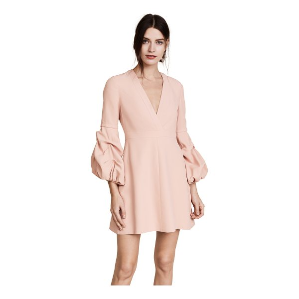 ALEXIS fia dress - Ruffled puff sleeves add a hint of drama to this elegant...
