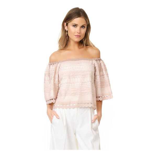 ALEXIS finn top - A breezy lace Alexis top in an off-shoulder silhouette....