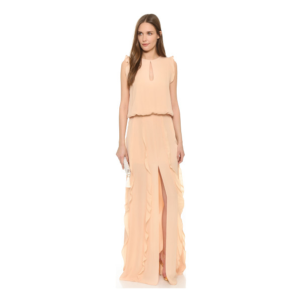 ALEXIS Frances ruffled maxi dress - Picot edged ruffles bring a graceful feel to this delicate...