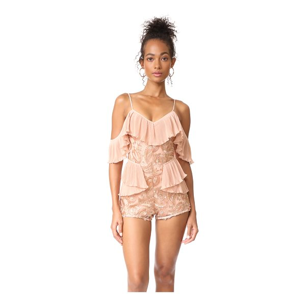 ALICE MCCALL let's get loud romper - NOTE: Sizes listed are UK/Australian. Metallic embroidery...