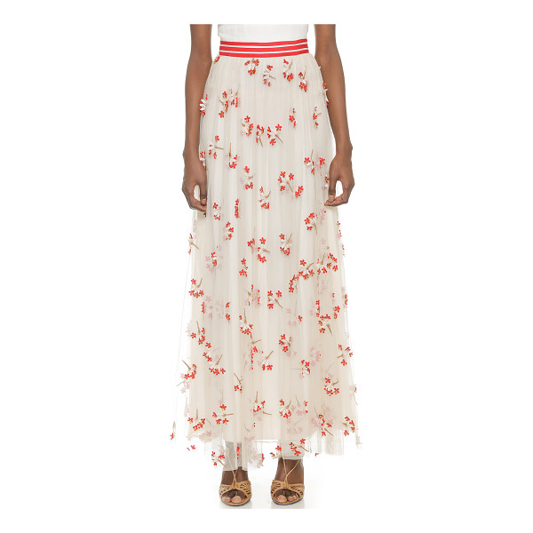 ALICE + OLIVIA Adair wildflower tulle maxi skirt - Airy tulle and embroidered flowers bring an airy, feminine...