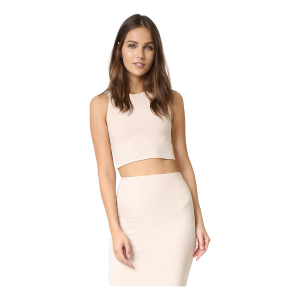 ALICE + OLIVIA air leilani cutout back crop top - A formfitting alice + olivia crop top with alluring cutouts...