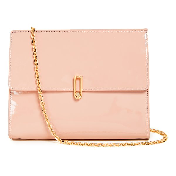 ALICE + OLIVIA alba flap clutch - A structured alice + olivia clutch crafted in high-gloss,...