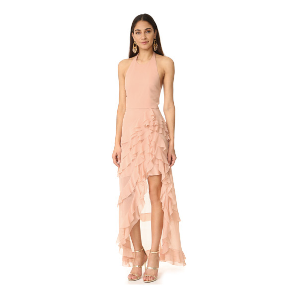 ALICE + OLIVIA carma asymmetrical ruffle gown - Layered, cascading ruffles bring graceful volume to this...