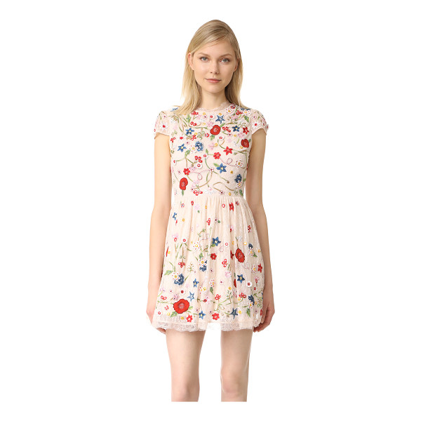 ALICE + OLIVIA ariel embroidered cap sleeve dress - NOTE: Runs true to size. Please see Size & Fit tab....
