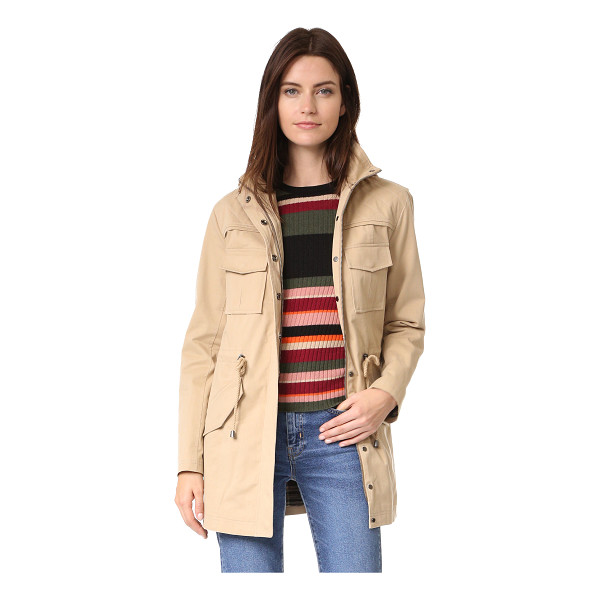 ALICE + OLIVIA atticus oversized jacket - Quilted shoulders accent this versatile twill alice +...