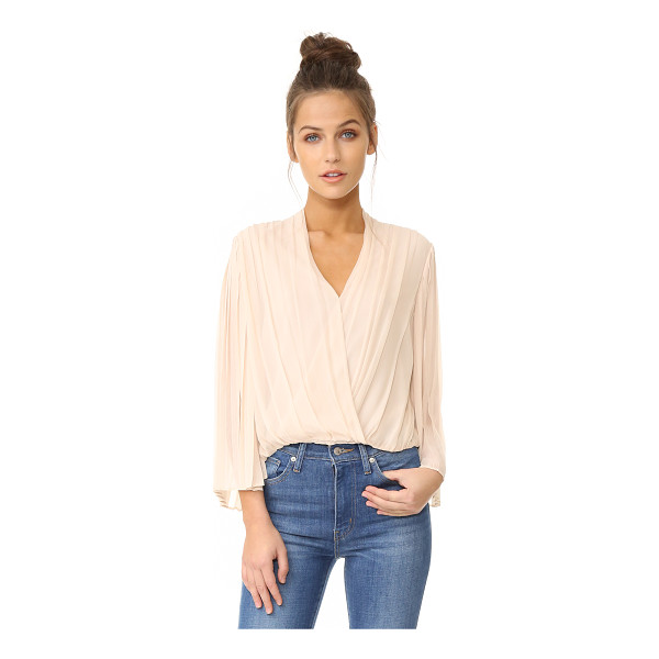 ALICE + OLIVIA axel cross front top - Deep pleats lend dimension to this silk crepe alice +...