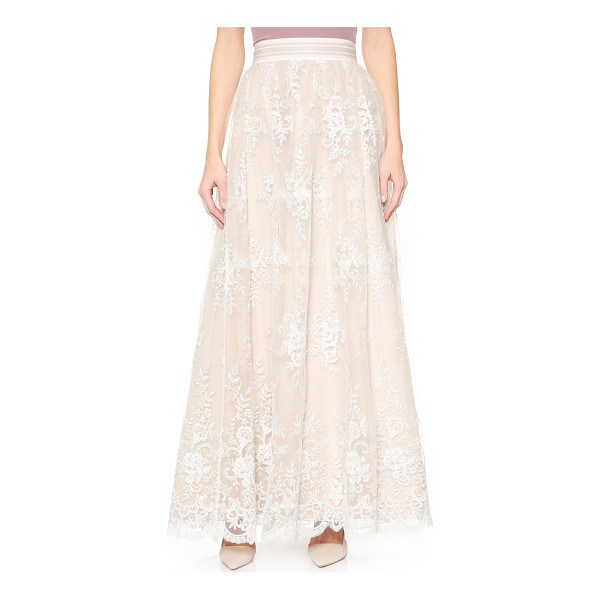 ALICE + OLIVIA Carter flare ball gown skirt - Clear sequins and imitation pearls lend subtle shimmer to...