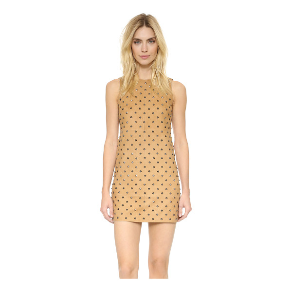 ALICE + OLIVIA Clyde studded suede dress - Cone studs shine from plush suede on this alice + olivia...