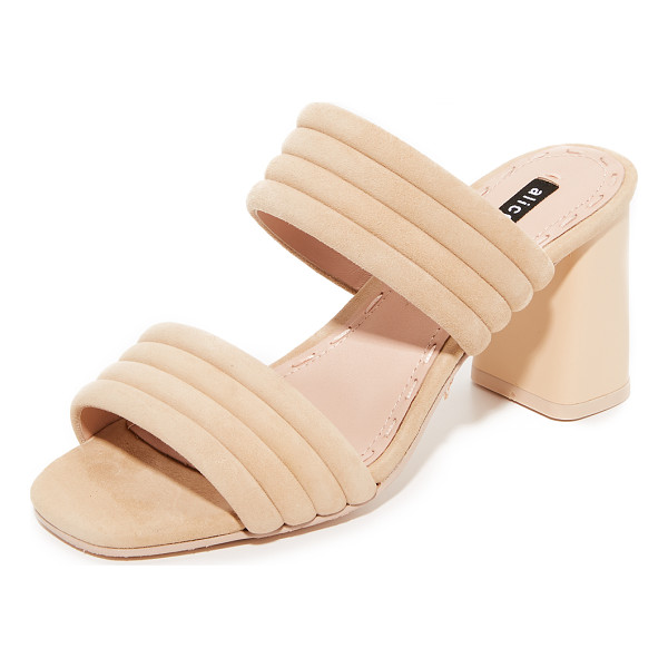 ALICE + OLIVIA colby mules - Effortless alice + olivia mules styled with quilted, suede...