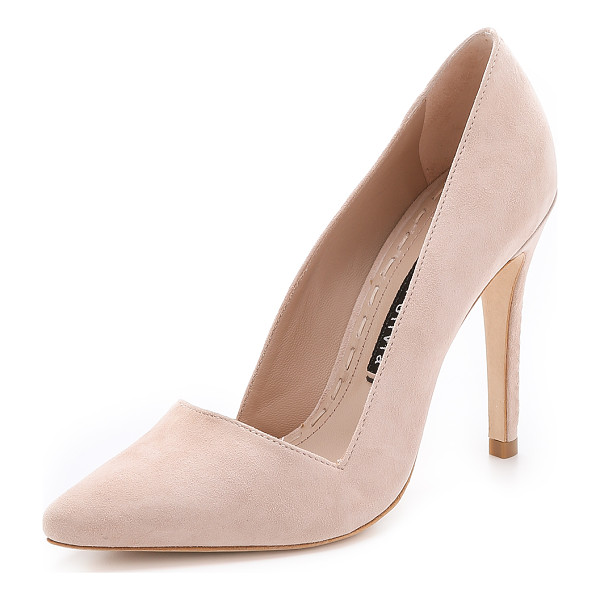 ALICE + OLIVIA Dina suede pumps - An angular top line and pointed toe lend a polished look to