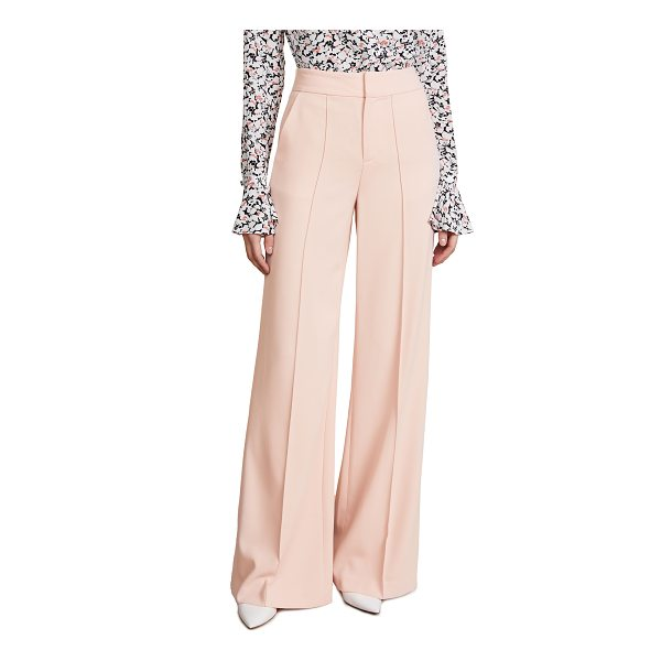 ALICE + OLIVIA dylan high waisted leg pants - Fabric: Crepe suiting Seamed creases Trouser styling...