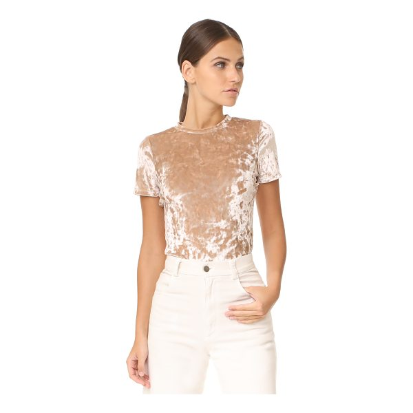 ALICE + OLIVIA jazmine tee - Crushed velour adds a shimmery sheen to this eye-catching...