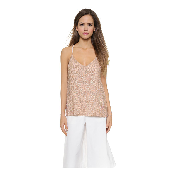 ALICE + OLIVIA Lola sequin tank - This silk chiffon alice + olivia tank has iridescent beads...